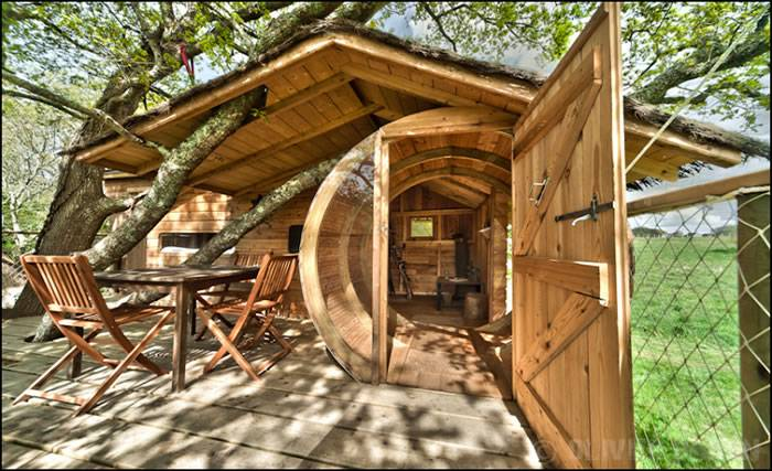 cabane dans les arbres la cabane perchee de sterenn
