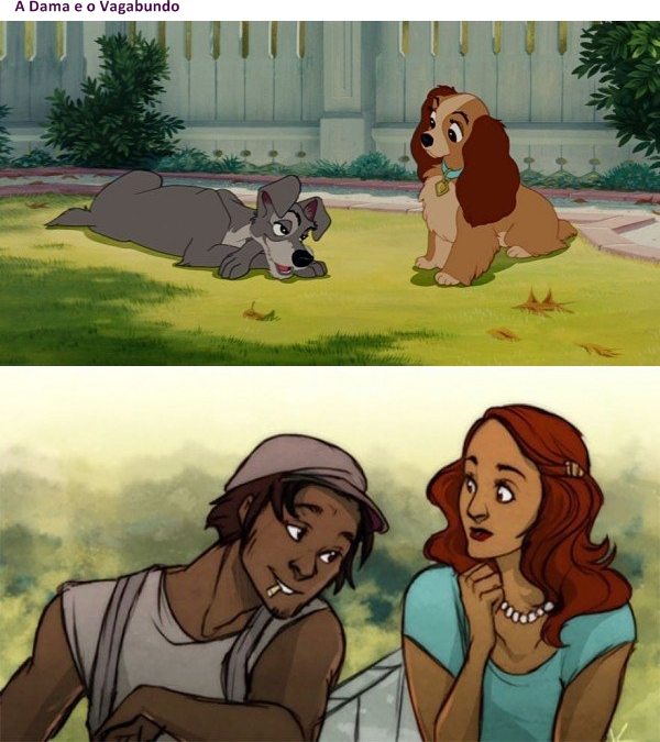 Animais da Disney versão humana