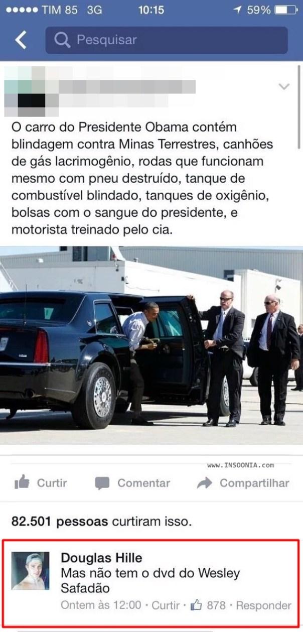 carro do presidente Obama