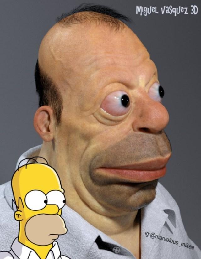 Homer Simpson humano