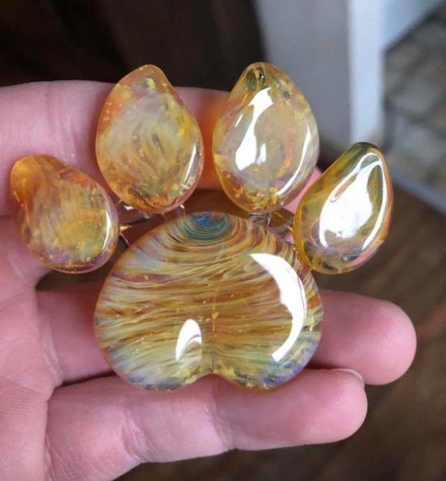 patinhas de vidro