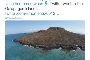 Be a Tourist for a day. #Twittermoments e le potenzialità di racconto nel turismo.