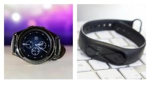 un confronto tra gli orologi Samsung e Mi Band