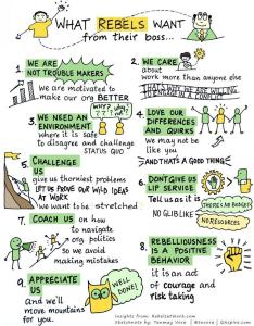 What rebels want from their boss