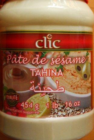 Clic Pâte de sésame Tahina -Label