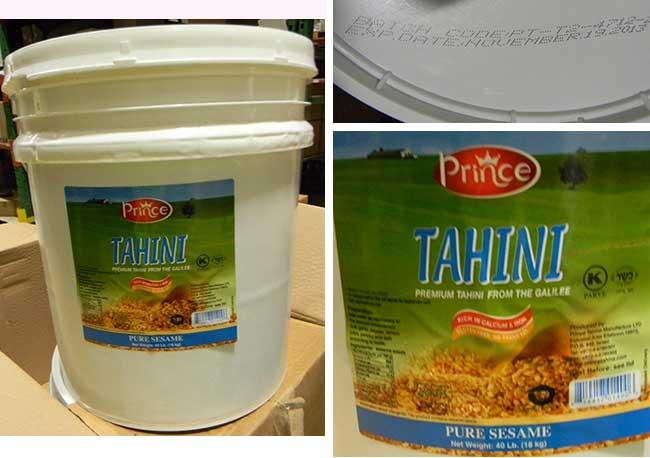 Prince brand Tahini - 18 kilogram (40 pounds)
