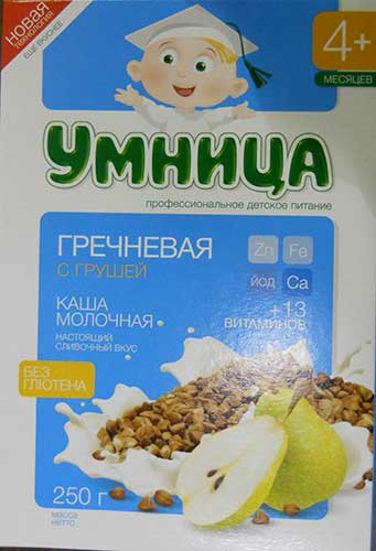 Buckwheat Pear & Milk flavour