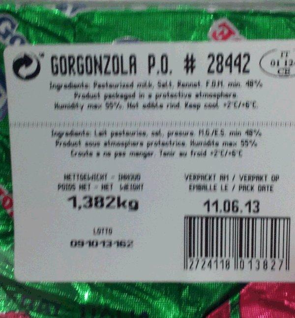 Ballarini - Gorgonzola D.O.P. Cremaverde - label