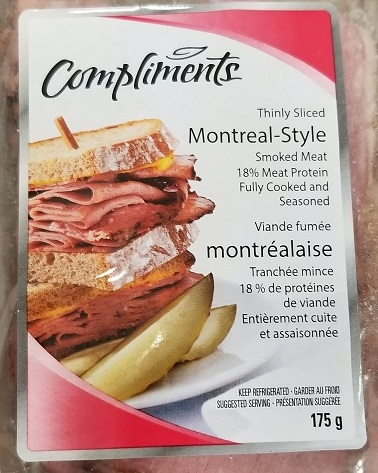 Compliments Montreal-Style Smoked Meat, 175 g - front