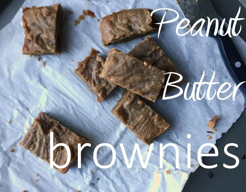 Gluten Free Fudgy Peanut Butter Brownies