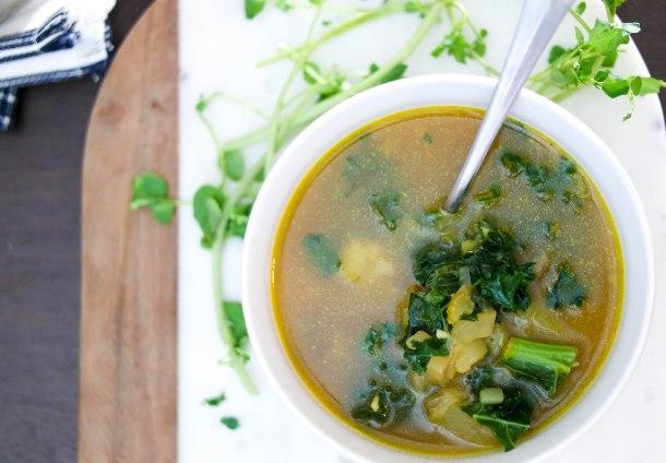 Slow & Slender : Kale and Watercress Soup