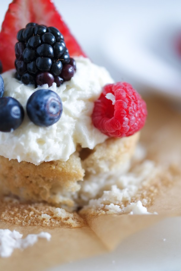 Berries and Cream Cupcakes