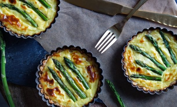 When Two Cheeses Are Not Enough: Triple Cheese Asparagus Tart