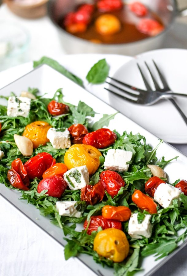 Communicate This: Roasted Tomato & Herbed Feta Salad