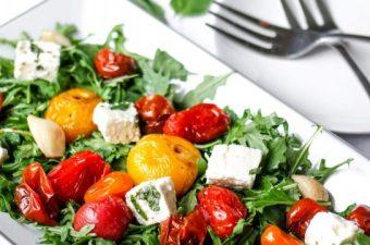 Roasted Tomato & Herbed Feta Salad