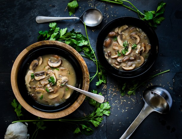 Take Me To Fungi Town: Hearty Portobello Mushroom Soup