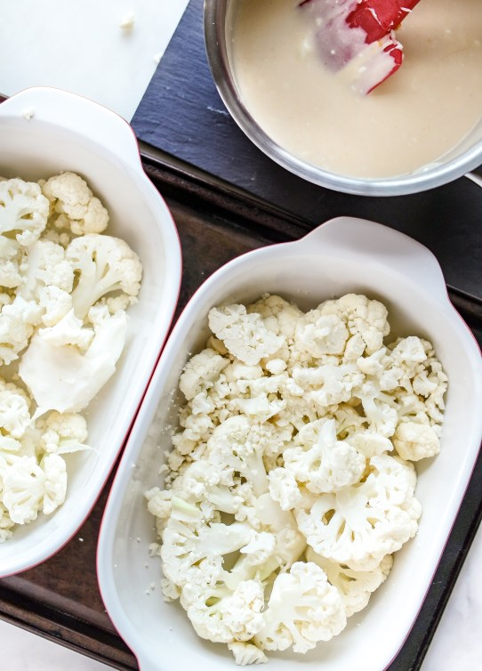 Low Carb Scalloped Cauliflower