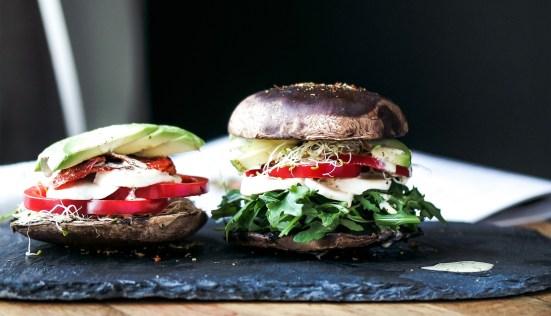 Portabella Mushroom Cap Burger Buns Inspector Gorgeous