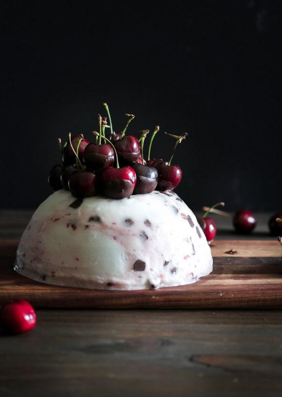 Cherry Chocolate Ice Cream Cake -4020