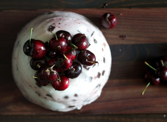 Cherry Chocolate Ice Cream Cake -4030