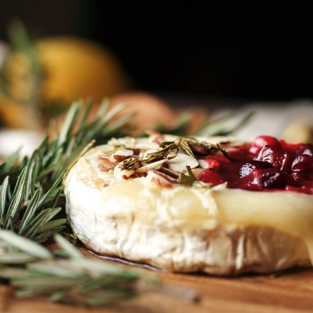 Keto Baked Brie with Lemony Cranberry Sauce!