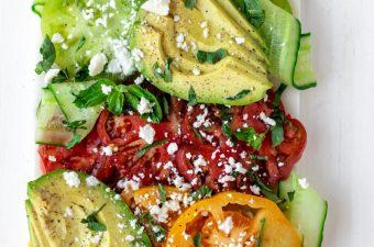Juicy Heirloom Tomato Salad {Gluten Free & Low Carb}