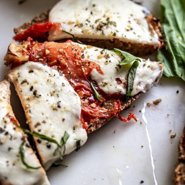 Low Carb Garlic Bread Pizza