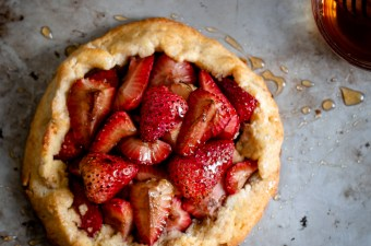 Rustic Balsamic Roasted Strawberry Galette {Gluten Free & Low Carb}