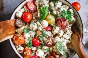 Keto Cauliflower Caprese Salad
