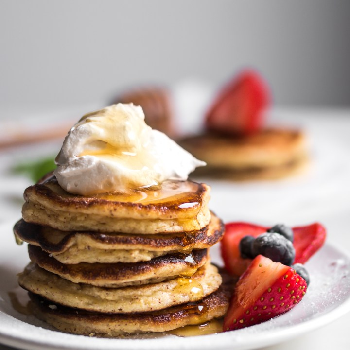 Soft & Buttery Ricotta Pancakes {GF & Low Carb}