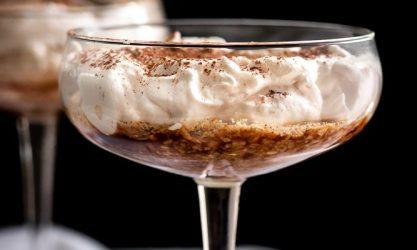 Greek Yogurt Tiramisu for 🥂Two {Low Carb & GF}