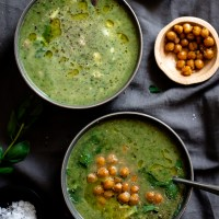 Green Goddess  🍵 Herb Soup {Gluten Free, Low Carb & Dairy Free Option}