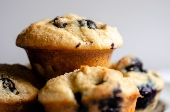 Soft & Tender  🥛🥧 Mini Blueberry Muffins! {GF & Low Carb}