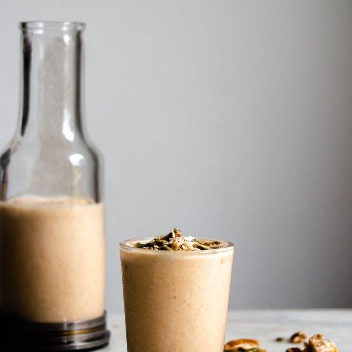 Thick n' Creamy Maple Pumpkin Pecan Smoothie