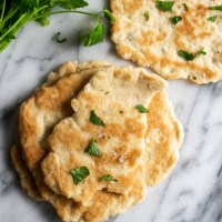 Buttery & Soft Skillet Flatbread {Gluten Free & Low Carb}