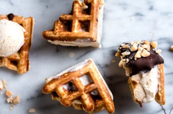 Low Carb Waffle Ice-Cream Sandwiches