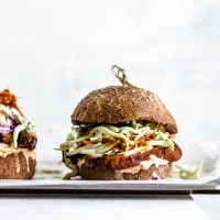 Loaded Barbecue Portobello Burgers
