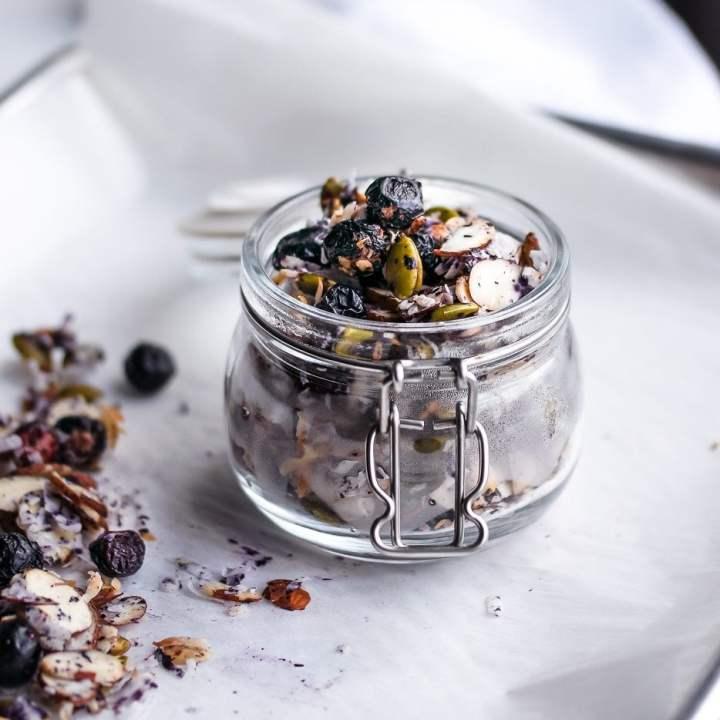 Low Carb Blueberry Almond Granola