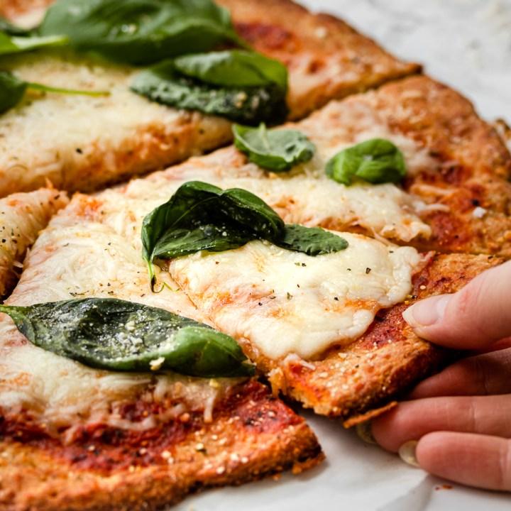Crispy Thin Crust Pizza! Keto & Gluten-Free