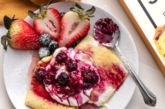 Sweet Mixed Berries N' Cream Omelet with JUST Egg Folded