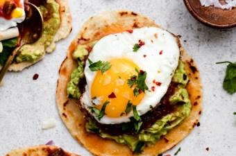 Zesty Breakfast Tacos! {Vegetarian & Gluten-Free!}