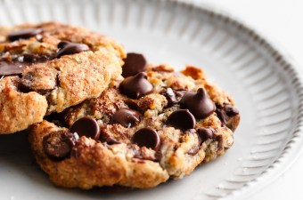 Keto (Single Serving!) Air Fryer Chocolate Chip Cookie