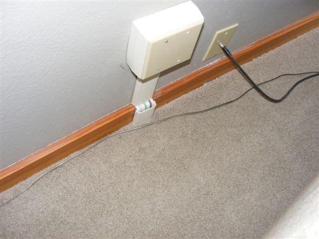 Wire Under Carpet Channel