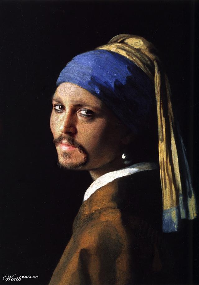 pintura Johnny Depp
