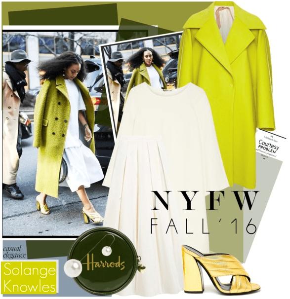Esta montagem de look por um usuário do Polyvore mostra o poder do flat lay como uma ferramenta para inspiração on-line de compras de roupas