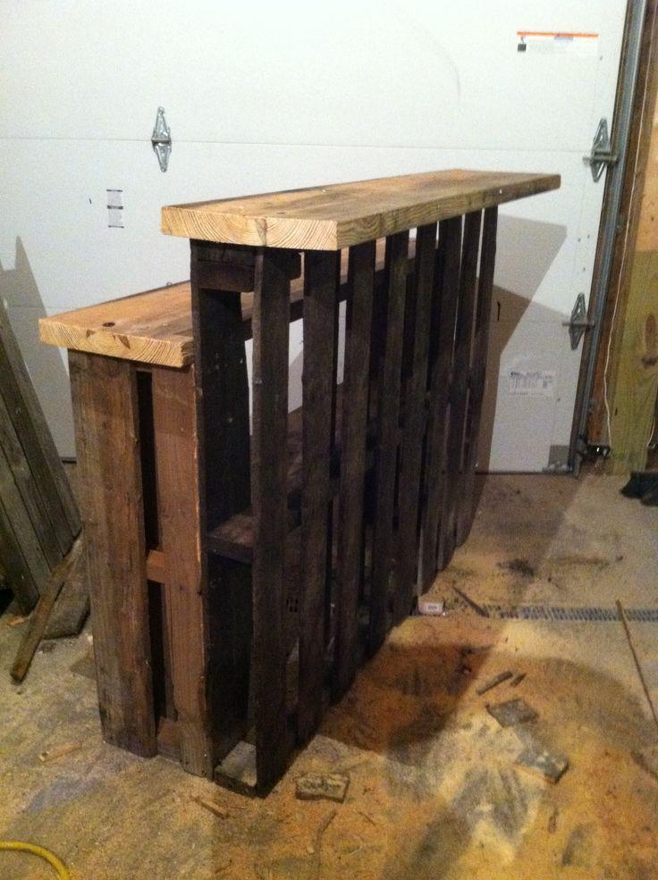 mini bar en bois de palettes voici 20