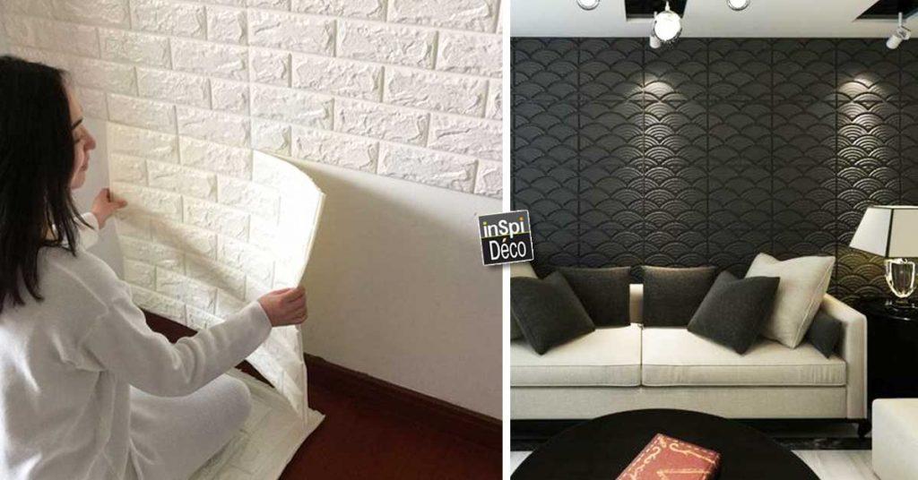 decorer les murs avec des panneaux 3d