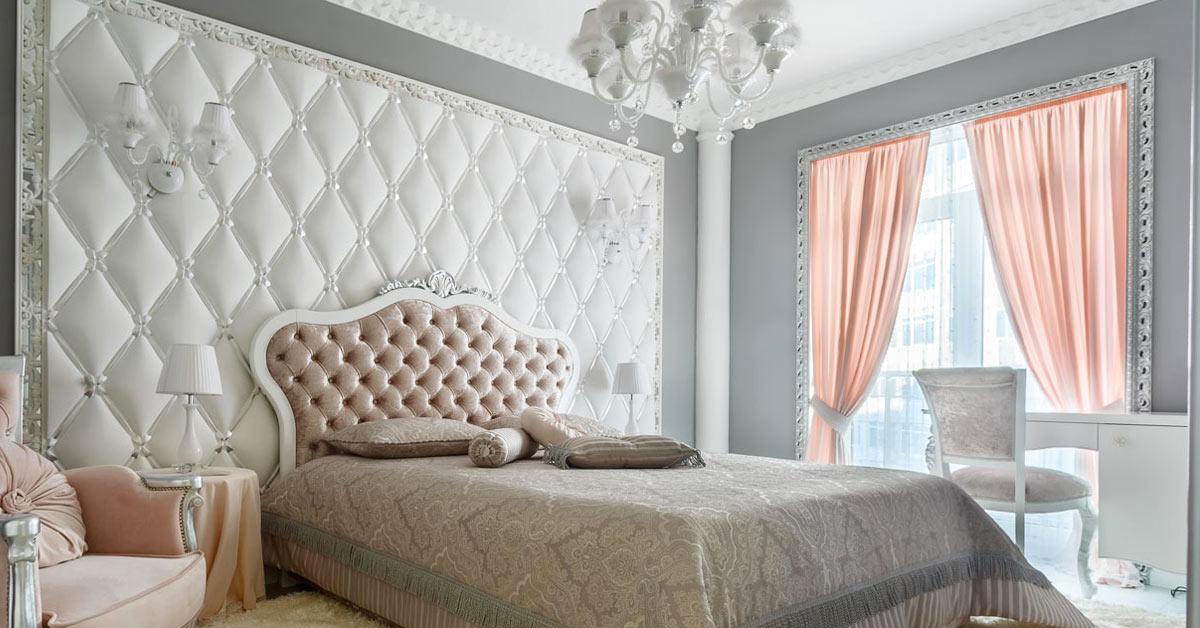 rideaux style shabby dans la chambre