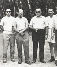 Il gruppo che investigò sul caso di Falcon Lake. Stephen Michalak è il quarto da sinistra