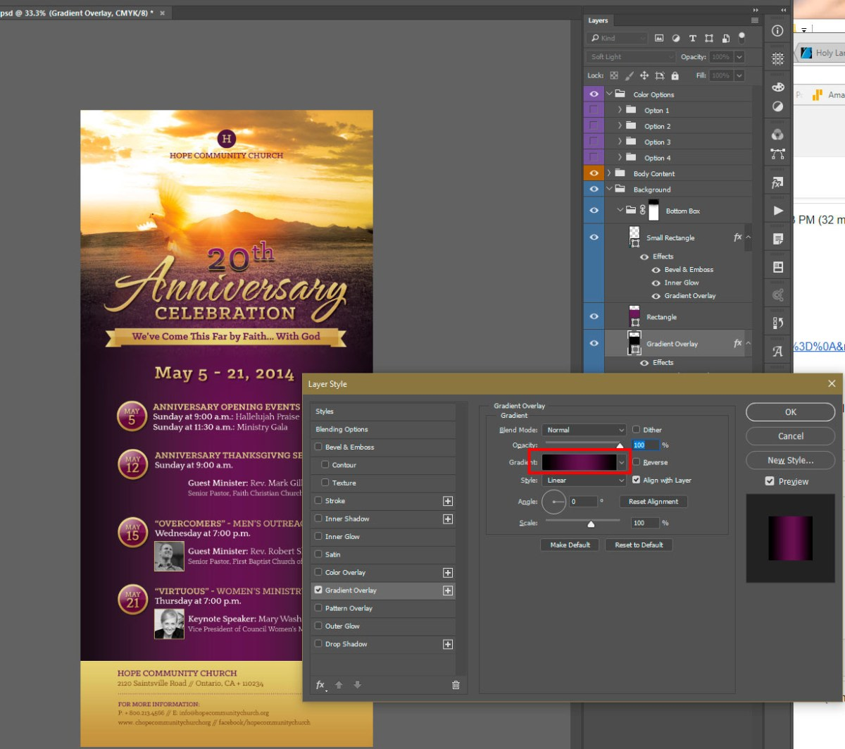 Photoshop Layer Styles panel